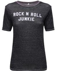 """R13 T-shirt En Jersey """"rock N Roll"""" - Noir"""