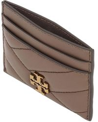 Tory Burch - Kira Quilted Leather Card Holder - Lyst