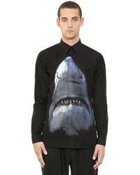Givenchy - Shark Digital Print Cotton Poplin Shirt - Lyst