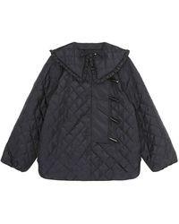 Ganni Quilted Recycled Ripstop Jacket - Black