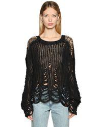 DIESEL - Destroyed Mesh Knit Sweater - Lyst