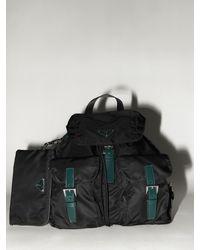 Prada Lvr Exclusive Nylon Canvas Backpack - Black