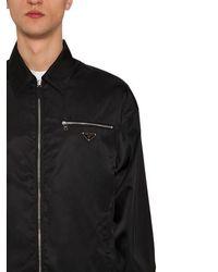 Prada ナイロンギャバジン シャツジャケット - ブラック