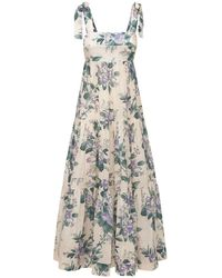 Zimmermann Платье Из Хлопка Cassia - Многоцветный