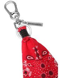DSquared² Schlüsselkette Aus Baumwolle Mit Bandana - Rot