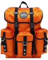 Gucci - 【公式】 (グッチ)オンライン限定 Off The Grid バックパックオレンジ GG Econyl®オレンジ - Lyst