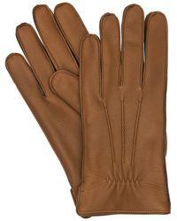 Mario Portolano Handschuhe Aus Hirschleder - Braun