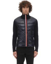 Moncler Tricot Knit Down Jacket - Blue