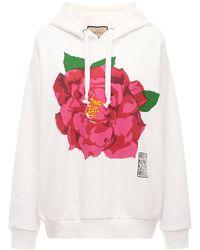 Gucci - Flower コットンジャージーフーディー - Lyst