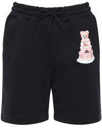 Moschino Teddy Cake ジャージーショートパンツ - ブラック