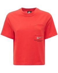 Nike Haut En Coton À Logo - Rouge