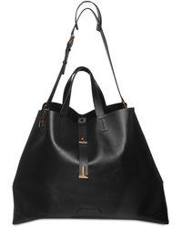 Tom Ford T Twist Leather Tote Bag - Black