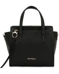 Ferragamo - Small Amy Leather Top Handle Bag - Lyst