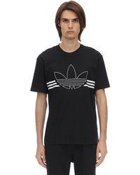adidas Originals Outline Trf コットンジャージーtシャツ - ブラック
