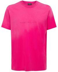 DIESEL - Bleach コットンジャージーtシャツ - Lyst