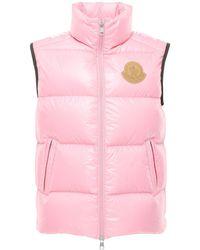 Moncler Genius Adrastea Nylon Laque Down Vest - Pink