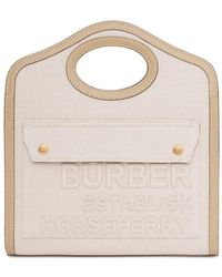 Burberry Сумка Mini Pocket Из Хлопка И Льна - Многоцветный