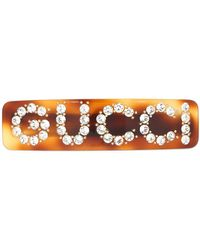 Gucci クリスタルロゴ ヘアバレッタ - マルチカラー