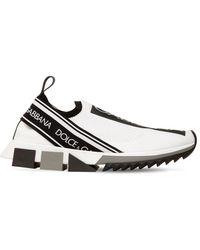"Dolce & Gabbana 15mm Hohe Sneakers Aus Strick ""sorrento"" - Schwarz"