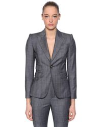 DSquared² Wool Prince Of Wales Suit - Gray