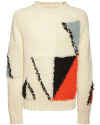 Jil Sander Intarsia Shetland Wool Knit Jumper - Multicolour