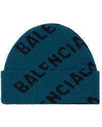 Balenciaga ウールブレンドビーニー - ブルー