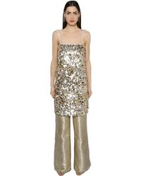 Gianluca Capannolo - Sequined Crepe Tunic Dress - Lyst