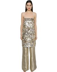 Gianluca Capannolo Sequined Crepe Tunic Dress - マルチカラー