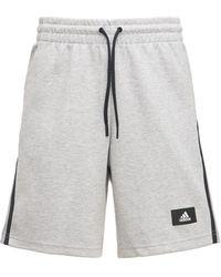 """adidas Originals Sweatshorts Aus Baumwollmischung """"future Icon 3s"""" - Grau"""