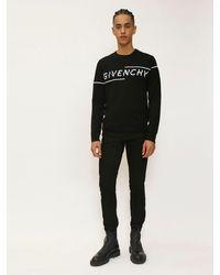 Givenchy インターシャコットンセーター - ブラック
