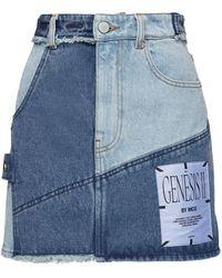 McQ - Genesis Ii Patchwork Denim Mini Skirt - Lyst