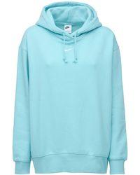 Nike Hoodie Aus Baumwollmischfleece - Blau