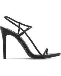 Steve Madden 120mm Faux Leather Sandals - Black