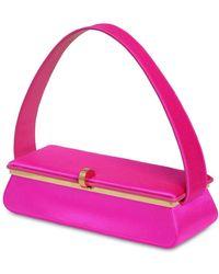 Victoria Beckham Powder Box Silk Satin Top Handle Bag - Multicolour