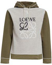 Loewe Hoodie Aus Baumwolljersey Mit Stickerei - Mehrfarbig