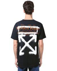 Off-White c/o Virgil Abloh Printed Cartoon Slim Jersey T-shirt - Black