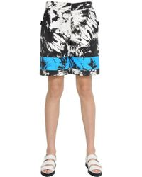 Alexander Wang - Tie Dye Printed Nylon Bermuda Shorts - Lyst