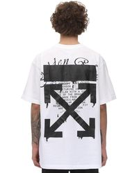 Off-White c/o Virgil Abloh T-shirt Aus Jersey Mit Farbeffekt - Weiß