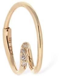 Maria Black 14kt Gold & Diamond Right Mono Earring - Mettallic