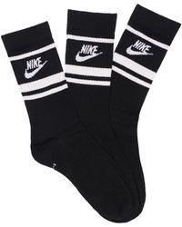 Nike Set: 3 Paar Essential-socken - Schwarz