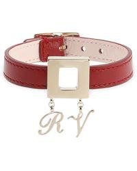Roger Vivier Armband Aus Leder Mit Metallschnalle - Rot