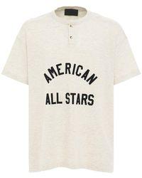 Fear Of God All Star Henley コットンtシャツ - ホワイト