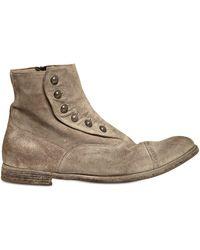 Officine Creative - Vintage Suede Ghetta Cropped Boots - Lyst