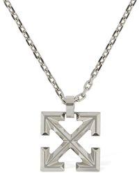 Off-White c/o Virgil Abloh Arrow Long Necklace - Metallic