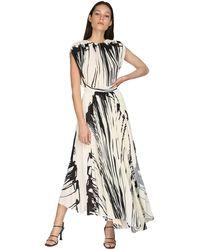 Proenza Schouler - Платье Из Крепа С Принтом - Lyst