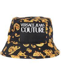 Versace Jeans コットンバケットハット - ブラック