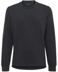 Sease Cotton & Nylon Scuba Jersey Sweatshirt - Gray