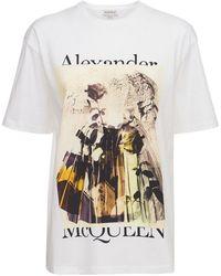 Alexander McQueen Футболка Из Хлопкового Джерси - Белый