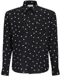 Saint Laurent - Рубашка Из Шелка С Принтом - Lyst