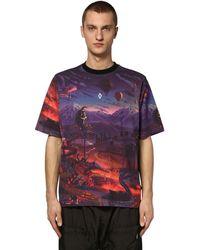 Marcelo Burlon T-Shirt mit Fantasie-Print - Lila